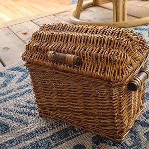 Vintage wicker storage basket